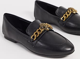 Kurt Geiger Chelsea eagle chain loafers in black leather