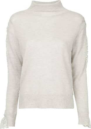 Onefifteen lace panel sweater - Grey