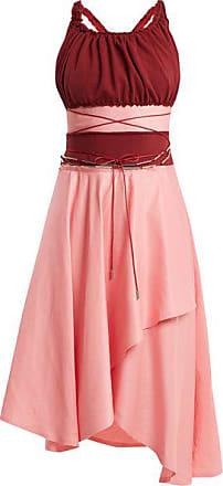 J.W.Anderson Off-the-shoulder Contrast-panel Dress - Womens - Pink