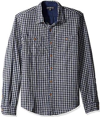 J.crew Mens Slim-Fit Long-Sleeve Flannel Plaid Shirt, Navy Grey Gingham, S
