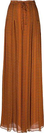 Diane Von Fürstenberg Saia com ajuste por cordão e estampa abstrata - Laranja