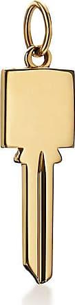 Tiffany & Co. Tiffany Keys modern keys square key pendant in 18ct gold, mini
