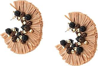 Oscar De La Renta embellished tassel earrings - Brown