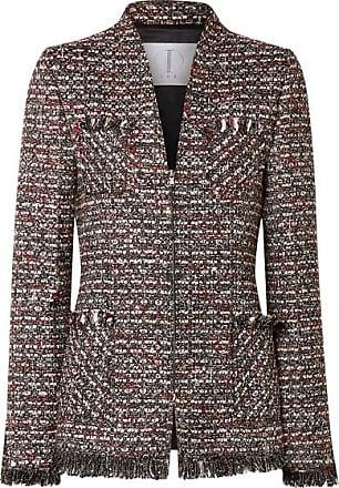 5d0567da11 TRE by Natalie Ratabesi Miller Embellished Metallic Tweed Blazer - Dark gray