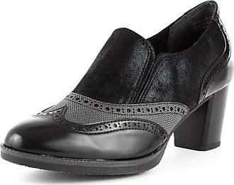 Marco Tozzi Womens Black Brogue Heel - Size 6.5 UK - Black