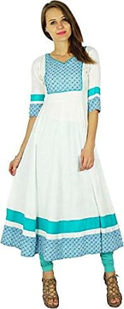teal phagun Baumwolle Kurta Frauen ethnischen Top Tunika-Kleid gerade kurti