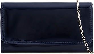LeahWard Womens Patent Flap Clutch Bag Purses Party Evening Bags Handbag 250 (Navy 2223)