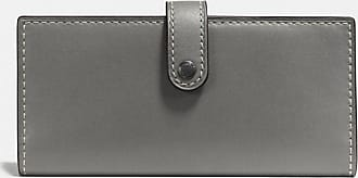 Coach Slim Trifold Wallet in Grey