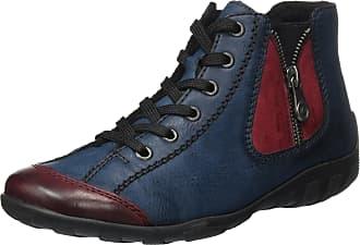 01d8169e5d69 Rieker Womens L6529 Hi-Top Trainers, Blue (Wine Navy 35),