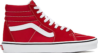 vans rouge montante femme