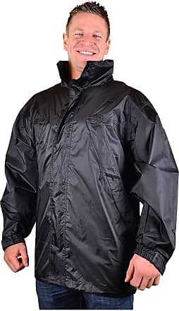 Espionage Big Mens Black Maccy Waterproof Jacket 2XL 3XL 4XL 5XL 6XL 7XL 8XL, Size : 3XL