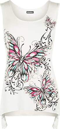 Womens Plus Size Butterfly Spot Sequin Print Ladies Cap Sleeve Baggy T-Shirt Top