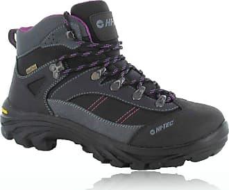 Hi-Tec CAHA Waterproof Womens Low Rise Hiking Boots, Grey (Charcoal/Viola 51), 4 (37 EU)
