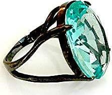 Vivid Anel Vivid Oval Grande Cristal Azul