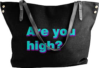 Juju Are You High Womens Classic Shoulder Portable Big Tote Handbag Work Canvas Bags