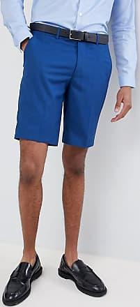 Farah Farah - Enge Hochzeitsanzugs-Shorts in Blau