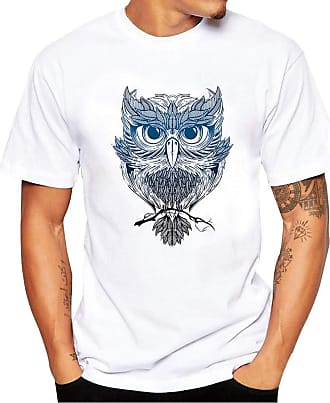 FNKDOR Mens Casual Printing Skull Tees Shirt Short Sleeve T Shirt Blouse