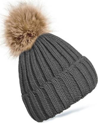 4dcbd7b5 4sold Womens Girls Winter Hat Wool Knitted Beanie Fleece with Pom Pom Cap  SKI Snowboard Hats