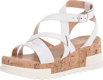 Yoki Womens BRENDA-55 Wedge Sandal, White, 6.5 UK