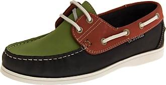 Footwear Studio Ladies Seafarer Yachtsman Nubuck Leather Boat Deck Shoes Navy/Red/Green Sizes 7