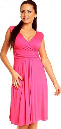 Zeta Ville Zeta Ville Womens V Neck Sleeveless Casual Flattering Summer Circle Dress 256z (Fuchsia, UK 14, XL)