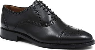Jones Bootmaker Wide-Fit Leather Oxford Brogues Black