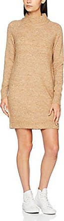 929b9eaa1fa Only Onlmeredith Highneck L/s Dress Knt Noos Vestido, Beige (Indian Tan  Detail