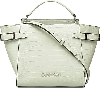 Calvin Klein Winged Top Handle To Bags Top Handle Bags Grön Calvin Klein