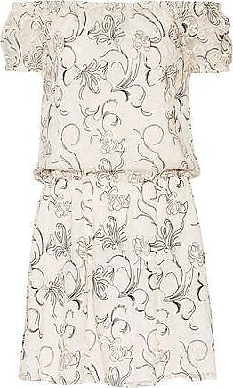 c26e19d9b0 Alice & Olivia Alice + Olivia Woman Janell Off-the-shoulder Embroidered  Silk-