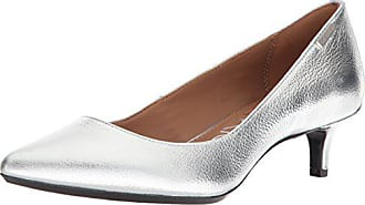 a5cc1b8baba Calvin Klein Womens Gabrianna Pump Silver 8 Medium US