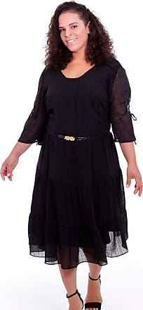 Vickttoria Vick Vestido Preto Cigano Marietta Plus Size (44)