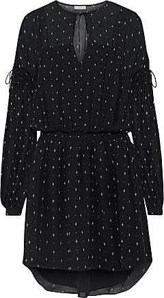 Joie Joie Woman Academia Printed Silk-chiffon Mini Dress Black Size XXS