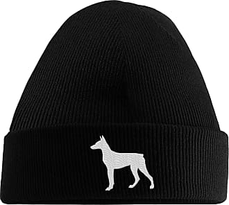 HippoWarehouse Doberman Logo Embroidered Beanie Hat Black