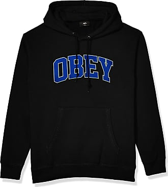 Obey Mens Sports Hooded Sweatshirt, Black, XL