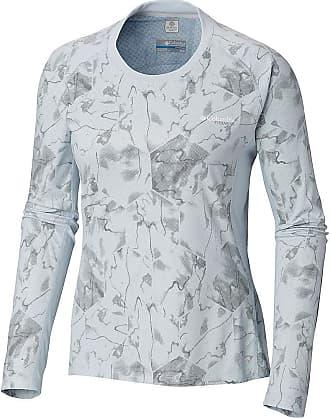 481a2c0f7c82 Columbia Womens Solar Ice Knit LS Top - Medium - Cirrus Grey Geo Print
