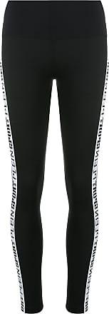 Plein Sport logo stripe leggings - Preto