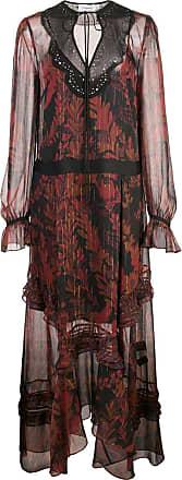 Coach long embellished dress - Red