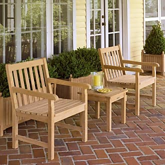 Oxford Garden Outdoor Oxford Garden Classic Shorea Wood Chat Set - Seats 2 Without Cushion - 5008