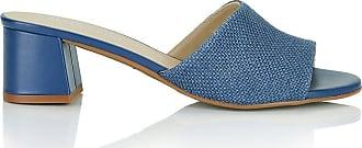 Madeleine Pantoletten aus Jute-Stoff in blau MADELEINE Gr 36, jeansblau für Damen. Synthetik
