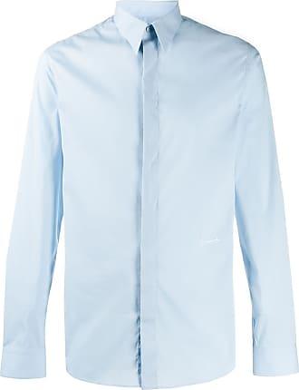 Givenchy Camisa com colarinho pontiagudo - Azul