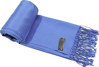 CJ Apparel Blue Solid Colour Design Shawl Seconds Scarf Wrap Stole Throw Pashmina Pashminas NEW