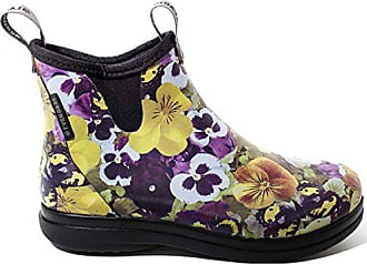 bfad65122203 LaCrosse Woman Hampton 2 Rubberboots Pansy Flower Print Yellow