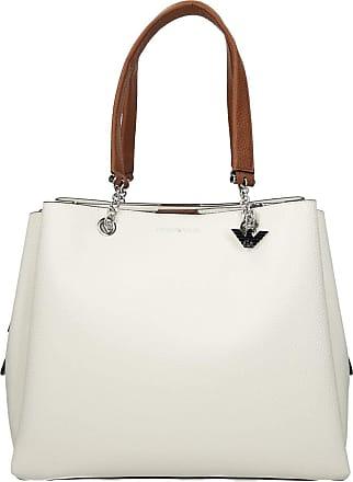 Emporio Armani Tri White Pebbled Tote Bag Wte One-Size