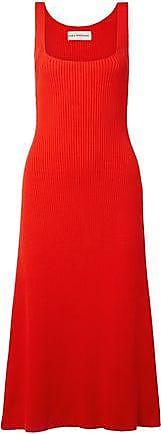 Mara Hoffman Mara Hoffman Woman Vita Ribbed Cotton Dress Red Size XL