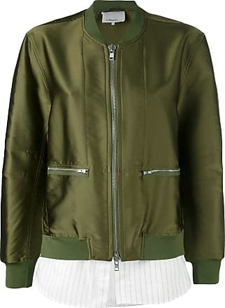 3.1 Phillip Lim layered bomber jacket - Green