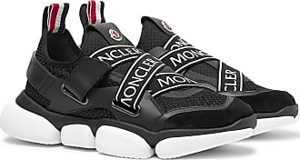 763eb6ceb01 Moncler Bakary Logo-trimmed Mesh, Suede And Leather Sneakers - Black