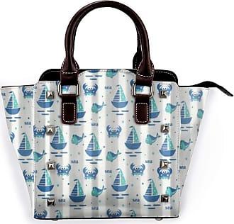 Browncin Sailing Ship Fish And Crabs Funny Detachable Fashion Trend Ladies Handbag Shoulder Bag Messenger Bags