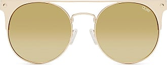 Quay Australia Womens Gold The In Crowd Oversized Round Sunglasses