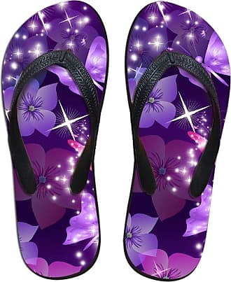 Coloranimal Womens Classic V Thong Slippers Animal Butterfly Pattern Flip Flops EU40