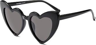 Zhuhaixmy Women Goggle Heart Sunglasses Vintage Cat Eye Mod Style Retro Eyewear